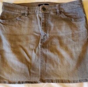 HM grey stretch denim Jean skirt